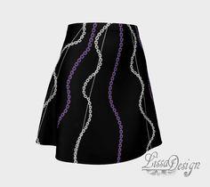 Jupe imprimée jupe évasée jupe chic jupe par CreationLissaDesign Tie Dye Skirt, Chic, Skirts, Fashion, Print Skirt, Printed Dresses, Thigh, Outfit, Shabby Chic