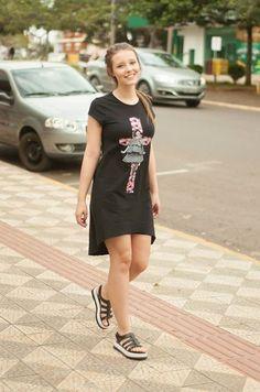Tee dress; vestido Mullet; Sta Cena; verão/17;
