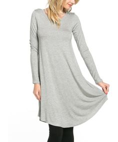 This Heather Gray Long Sleeve Tunic is perfect! #zulilyfinds