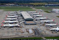 @BritishAirways lineup at Heathrow Terminal 5