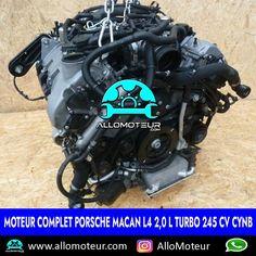 Moteur complet Porsche Macan L4 2,0 L turbo 245 cv CYNB 🔵7.000 Kms certifiés 🔵Année 2018 ( 2014-2019 ) 🔵Référence moteur CYNB 🔵Livré complet sans boîte de vitesses 🔵Garantie 6 mois