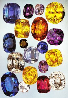 Sapphires are not just blue! Our selection includes the traditional deep rich blue as well as black, yellow, pink and white!