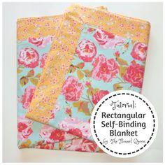 My Fabric Obsession: Rectangular Self-Binding Flannel Blanket Tutorial for Luke's Loves