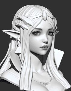 ArtStation - A practice, Michael Mao💦 Zbrush Character, 3d Model Character, Character Modeling, Girl Face, Woman Face, Modelos 3d, Photography Illustration, Drawing Practice, Face Hair