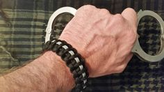 Check out this item in my Etsy shop https://www.etsy.com/listing/240303155/correctional-officer-paracord-bracelet