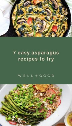 asparagus recipes Gluten Free Recipes, Vegan Recipes, Easy Asparagus Recipes, Picky Eaters, Meal Prep, Vegetarian, Lunch, Snacks, Meals
