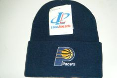 Indiana Pacers NEW Vintage Authentic beanie toque knit hat Logo Athletic - http://bignbastore.com/nba-winter-attire/indiana-pacers-new-vintage-authentic-beanie-toque-knit-hat-logo-athletic