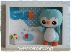 My Felt: Para decorar o quarto do Gui...love the little frame and details
