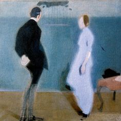 Helene Schjerfbeck (Finnish realism and expressionism painter, - Kuvakudos Helene Schjerfbeck, Helsinki, Figure Painting, Painting & Drawing, Painting Collage, James Mcneill Whistler, Kunst Online, Art Society, Couple Art