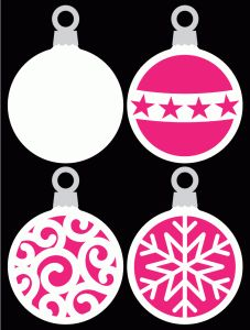 Round Baubles by Bird...tons of free cut files here!