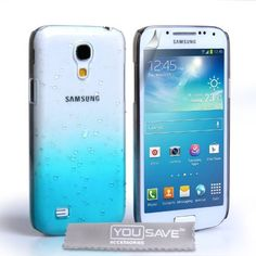 Samsung Galaxy S4 Mini Case Blue / Clear Raindrop Hard Cover by Yousave Accessories, http://www.amazon.co.uk/dp/B00DCO9UT8/ref=cm_sw_r_pi_dp_lgw4rb1QMJXDT