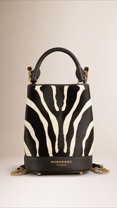 The Small Bucket Backpack in Animal Print Calfskin | Burberry