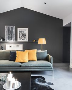 All Black Living Room . All Black Living Room . 15 Black Feature Walls to Make You Rethink All Your Decor Grey Walls Living Room, Living Room Photos, Living Room Green, Living Room Sets, Living Room Interior, Living Room Decor, Feature Wall Living Room, Interior Walls, Living Spaces