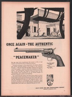 1955 COLT SAA Single Action Army Peacemaker Revolver AD