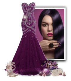 """""""Purple Glamour"""" by majezy ❤ liked on Polyvore featuring Steve Madden and Effy Jewelry"""
