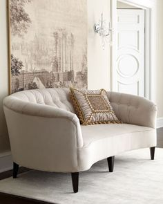 """""""Anastacia Pearl"""" Sofa by Old Hickory Tannery at Neiman Marcus."""