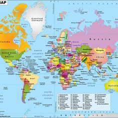 🌍My top Countries to visit next.the Entire World! World Map Picture, Cool World Map, Hd Picture, World Political Map, Indian Freedom Fighters, Kindergarten Assessment, World Map Wallpaper, Learn Something New Everyday, Map Pictures