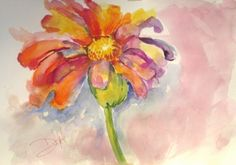 Large Flower, painting by Delilah Smith