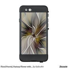 Floral Fractal, Fantasy Flower with Earth Colors LifeProof® NÜÜD® iPhone 6 Case