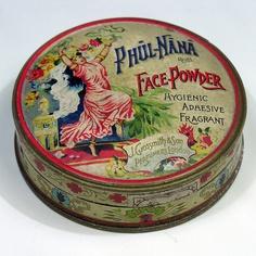 pretty powder tin