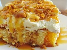 Bananas Foster Poke Cake         Ingredients:     1 oz box butter golden cake mix   ingredients needed to make cake butter, eggs and water ...