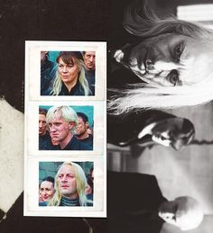Immagine di draco malfoy, harry potter, and lucius malfoy