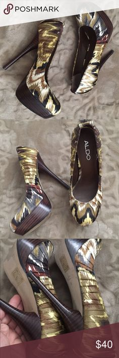 🌷Super Cute ALDO Multi Color High Heels Super Cute ALDO Multi Color High Heels. Like New Condition Aldo Shoes Heels