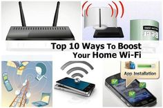Top 10 ways to boost your home wi-fi Diy Tech, Computer Technology, Computer Works, Technology Updates, Computer Tips, Home Network, Tech Support, Home Hacks, Organization Hacks