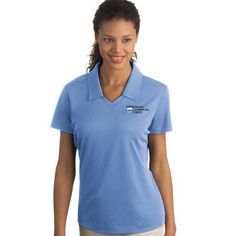 Have these women's contrast polo shirts custom embroidered with your company logo. Choose the color block wicking shirt by Charles River made with TopShield moisture management fabric. Nike ladies contrast shirts are dri-fit classic sport polo shirts with superior moisture management and a tailored feminine fit. Either would look fantastic with your company logo custom embroidered on them.
