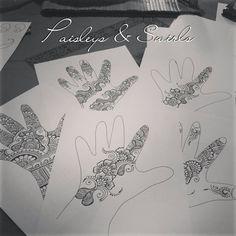 Teach yourself henna Traceable & Reusable von PaisleysandSwirls