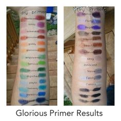Younique glorious is a great primer for face, eyes and even hair. You can see from the photo it gives you more intense eye shadow colors too! Feels like velvet on the skin, I love this stuff and it lasts forever. #youniqueglorious https://www.facebook.com/CaptivatebyTinaMedley