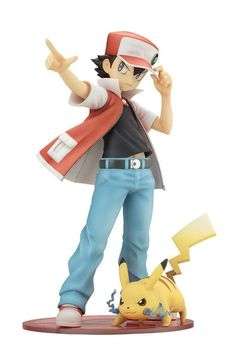 Kotobukiya Pokemon series Red with Pikachu scale PVC Painted figure ARTFX J Pokemon Number, Pokemon Red, Pokemon Cards, Pikachu Pikachu, Thing 1, Pokemon Rouge, Theme Anime, Anime Figurines, 2 Movie
