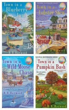 This 8 book cozy mystery series is centered in Cape Willington, Maine. {affiliate}