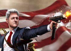 Bill Clinton The Lady Killer HQ by sharpwriter on Etsy Presidential Portraits, Sams C, Best Man Wedding Speeches, Best Man Speech, Nuclear War, Political Memes, Male Models, A Good Man, Donald Trump