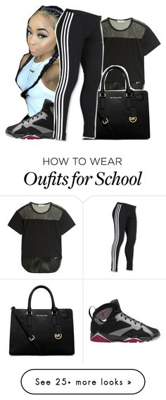 """Untitled #407"" by queen-dope on Polyvore featuring adidas, MICHAEL Michael Kors, CO and Retrò"
