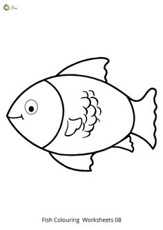 Free Downloadable Fish Worksheets for kids. Fish Coloring Page, Colouring Pages, Coloring Sheets, Baby Door Hangers, Worksheets For Kids, Parenting, Snoopy, Names, Chart