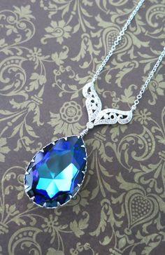 Kyla Swarovski Heliotrope Crystal Teardrop