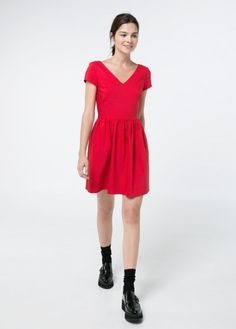 $69, Skater Dress by Mango. Sold by Mango. Click for more info: http://lookastic.com/women/shop_items/179616/redirect