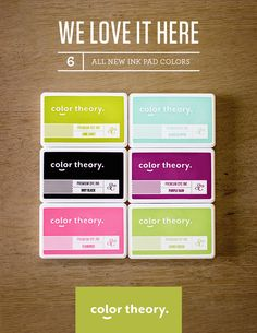 Brand new Color Theory Ink Bundle @studio_calico!