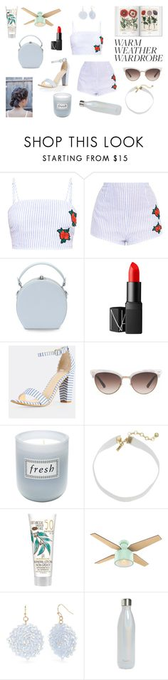 """Hot thing in a hot weather"" by laura15fm ❤ liked on Polyvore featuring Handle, NARS Cosmetics, Gucci, Fresh, Vanessa Mooney, New Directions and S'well"