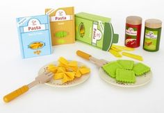 Hape Toys Pasta Set — A toy with it's own storage that also double as a toy.