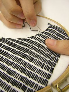 Shadow embroidery ,,, Embroider the background/negative space, leave the image/positive space blank.