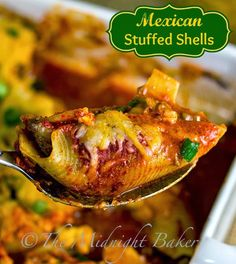 Looking for Fast & Easy Beef Recipes, Main Dish Recipes, Mexican Recipes, Pasta Recipes! Recipechart has over free recipes for you to browse. Find more recipes like Mexican Stuffed Shells . Mexican Stuffed Shells, Stuffed Shells Recipe, Mexican Food Recipes, Beef Recipes, Cooking Recipes, Yummy Recipes, Mexican Entrees, Pasta Recipes, Chicken Recipes