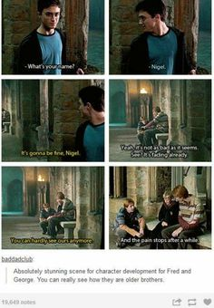Good guys Fred & George. Love those two forever!