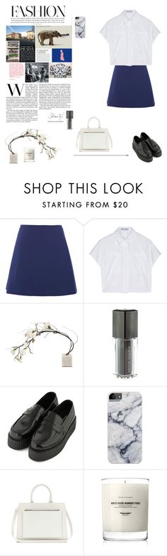 """""""University look. Korea"""" by djulia-tarasova ❤ liked on Polyvore featuring Peter Som, Proenza Schouler, Topshop, Victoria Beckham and Baxter of California"""