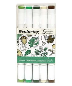 Take a look at this 5-Ct. Nature Marker Set today!