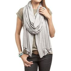These soft knit scarves, breezily looped around your neck, are just what you need to nail the model off duty look.
