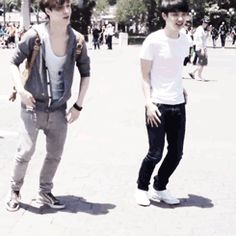 D.O and Lay at Disneyland