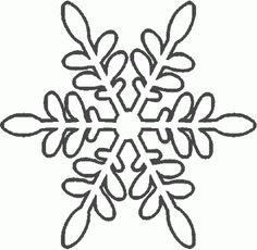 Plantillas copos de nieve para manualidades | Divertidas de Navidad