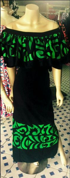 Samoa Island Wear, Island Outfit, Samoan Dress, Island Style Clothing, Hawaii Style, Dress Patterns, African Fashion, Dress Skirt, Designer Dresses